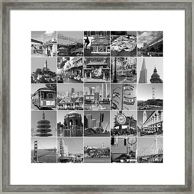 I Left My Heart In San Francisco 20150103bw Framed Print