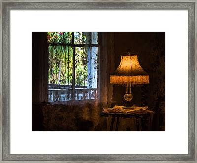 I Left The Light On For You Framed Print