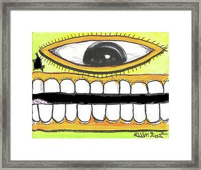 I Like 2 Smile Rs Framed Print