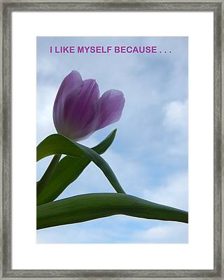 I Like Myself Because . . . Framed Print by Gallery Of Hope