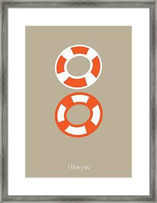 I Like You. You Complete Me. Framed Print by Lina Tumarkina