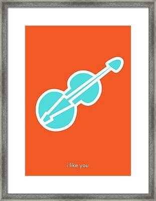 I Like You. You Are My Music. Framed Print by Lina Tumarkina