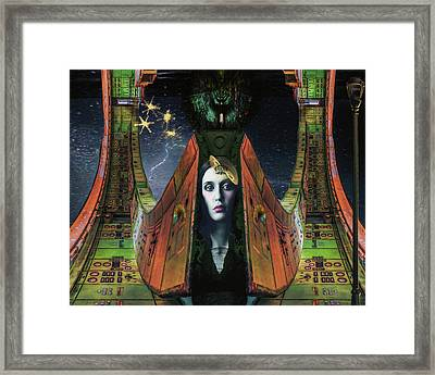 I Live Beyond Here Framed Print
