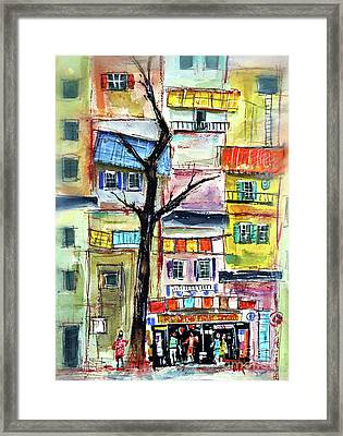 I Live Up There Framed Print by Tim Ross