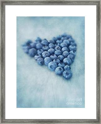 I Love Blueberries Framed Print by Priska Wettstein