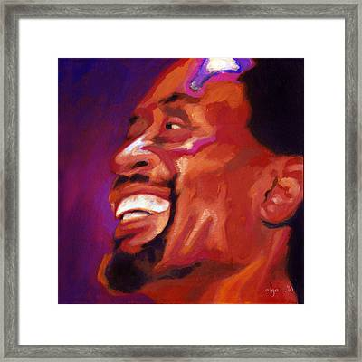 Framed Print featuring the painting I Love Bobby Mcferrin by Angela Treat Lyon