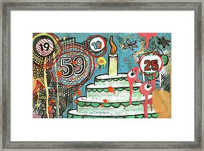 I Love Cake Framed Print by Pegeen  Shean