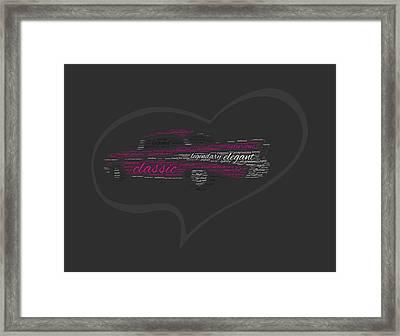 I Love Chevy Bel Air Framed Print by Felikss Veilands