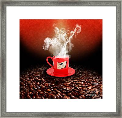 I Love Coffee Framed Print by Stefano Senise