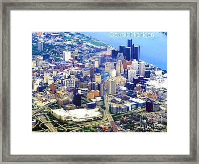 I Love Detroit Framed Print by Gardening Perfection