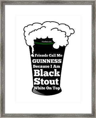 I Love Guinness  Framed Print