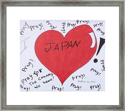 I Love Japan By Erik Akerman Framed Print