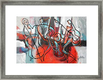 I Love Jazz Framed Print by Leon Zernitsky