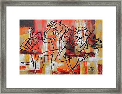 I Love Klezmer Framed Print by Leon Zernitsky