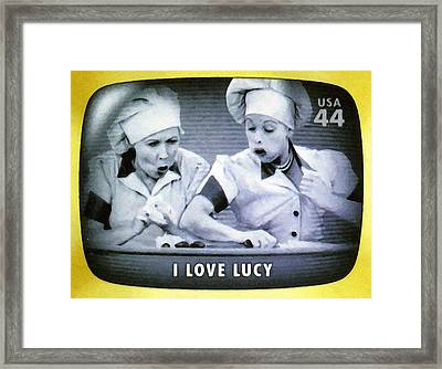I Love Lucy Framed Print