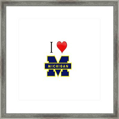 I Love Michigan Framed Print
