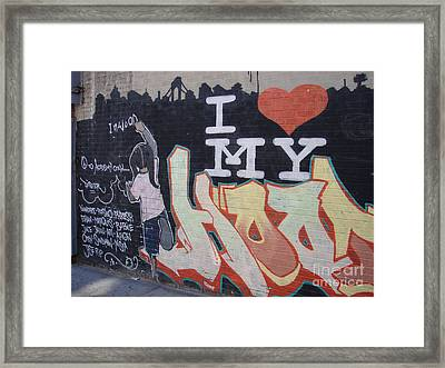 I Love My Hood Framed Print by Cole Thompson