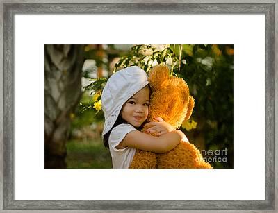 I Love My Teddy Bear Framed Print