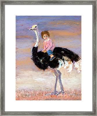 I Love My Very Own Ostrich Framed Print by Cheryl Whitehall