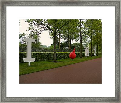 Framed Print featuring the photograph I Love N Y by Manuela Constantin