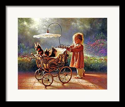 Cart Paintings Framed Prints