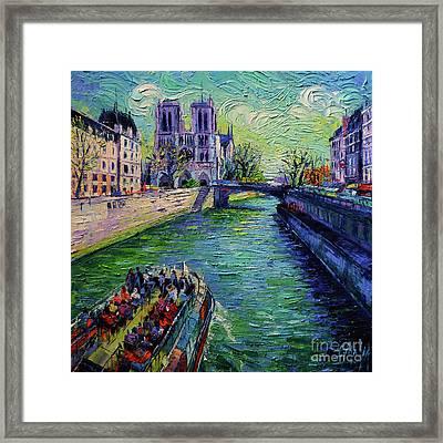I Love Paris In The Springtime Framed Print by Mona Edulesco