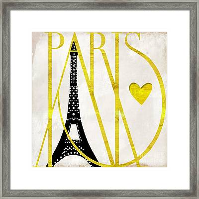 I Love Paris Framed Print by Mindy Sommers
