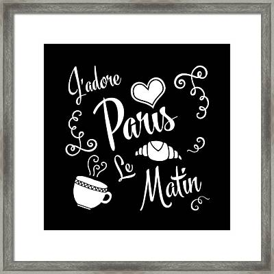 I Love Paris Mornings Framed Print by Antique Images