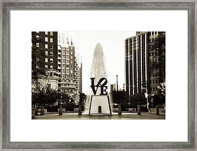 I Love Philadelphia Framed Print