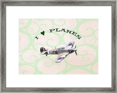 I Love Planes - Hurricane Framed Print