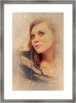 I Love Shoes Framed Print