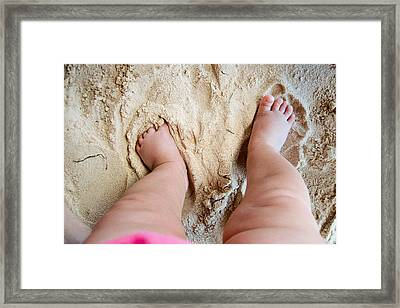 I Love The Beach Framed Print by Adam Romanowicz