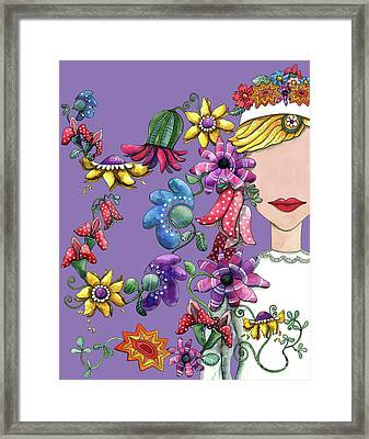 I Love The Flower Girl Lavender Framed Print by Shelley Wallace Ylst