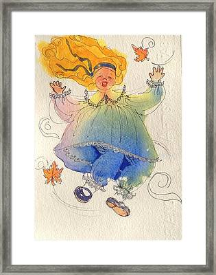 I Love The Wind Framed Print by Marilyn Jacobson