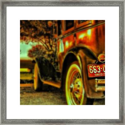 I Love This #classiccar Photo I Took In Framed Print by Pete Michaud