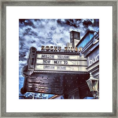 I Love This #sign From A #city Outside Framed Print by Pete Michaud