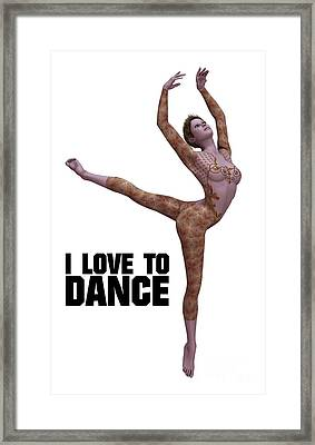 I Love To Dance Framed Print by Esoterica Art Agency