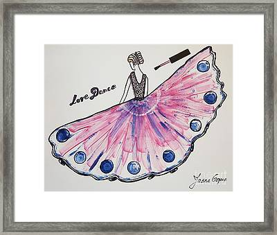 I Love To Dance Framed Print by Jasna Gopic
