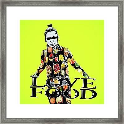 I Love To Eat🍔🍟 #アート Framed Print