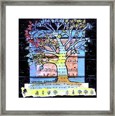 Framed Print featuring the painting I Love Trees by Genevieve Esson