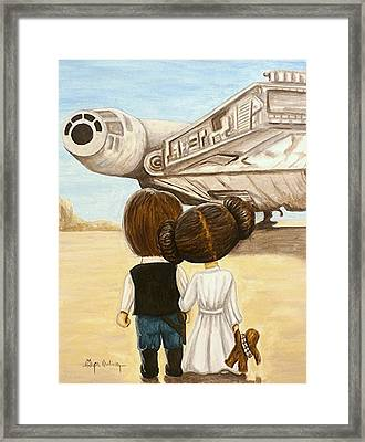 I Love You     I Know Framed Print by Al  Molina