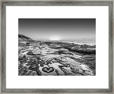 I Love You As Big As The Ocean Too  Black And White Framed Print by Scott Campbell