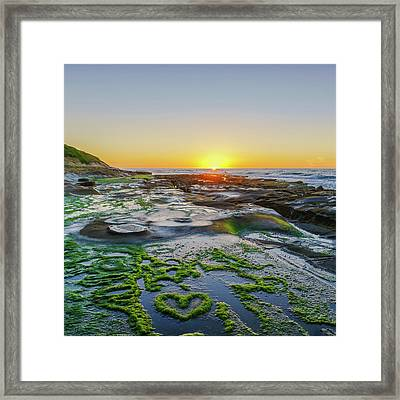 I Love You As Big As The Ocean Too Square    Color Framed Print by Scott Campbell