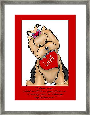 I Love You Framed Print by Catia Cho