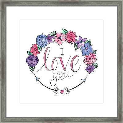I Love You Framed Print by Elizabeth Davis