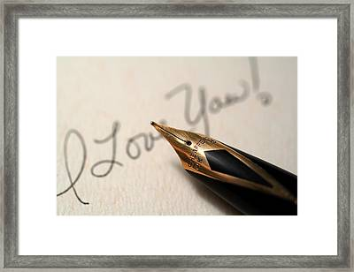 I Love You Framed Print by June Marie Sobrito