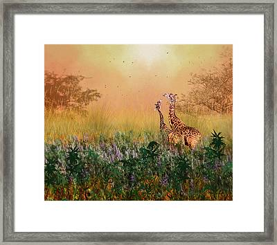 Framed Print featuring the photograph I Love You Mom by Diane Schuster