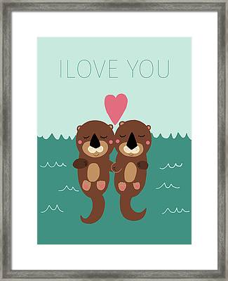 I Love You Framed Print by Nicole Wilson
