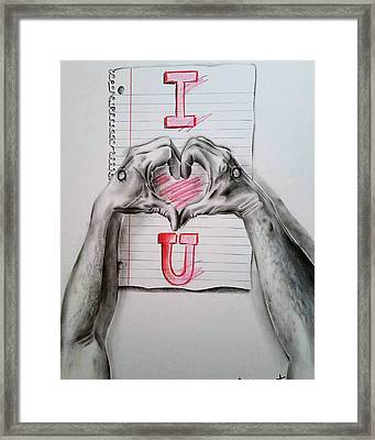 I Love You This Much II Framed Print