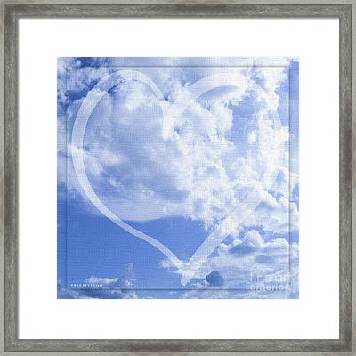 I Love You To The Clouds And Back Framed Print by Mona Stut